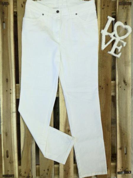 Дамски бели дънки без заден джоб